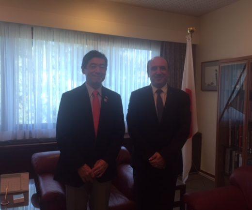 Japonya'nın Ankara Büyükelçisi Sayın HE Miyajima'yı ziyaret ettik