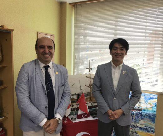 Kushimoto Belediye Başkanını ziyaret ettik